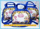 Souvenir Tas Beach Oval tema Minion Blue