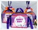 Souvenir tas Mini Travel Tema Happy Baby