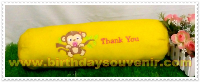 Souvenir Bantal Guling Bordir Monkey